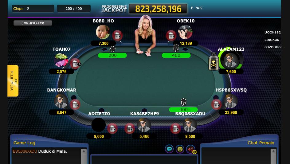 contoh meja poker